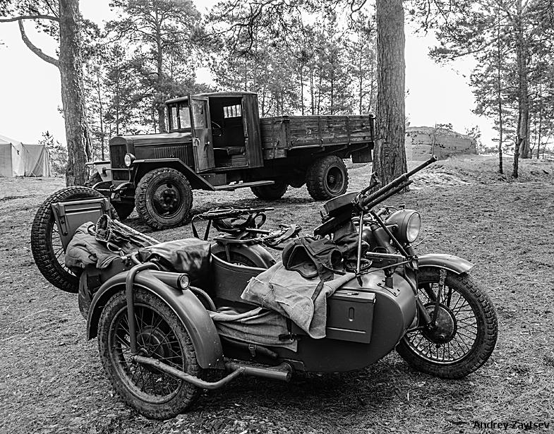 Завершена реставрация основного тяжёлого мотоцикла РККА М-72 1944-го года выпуска